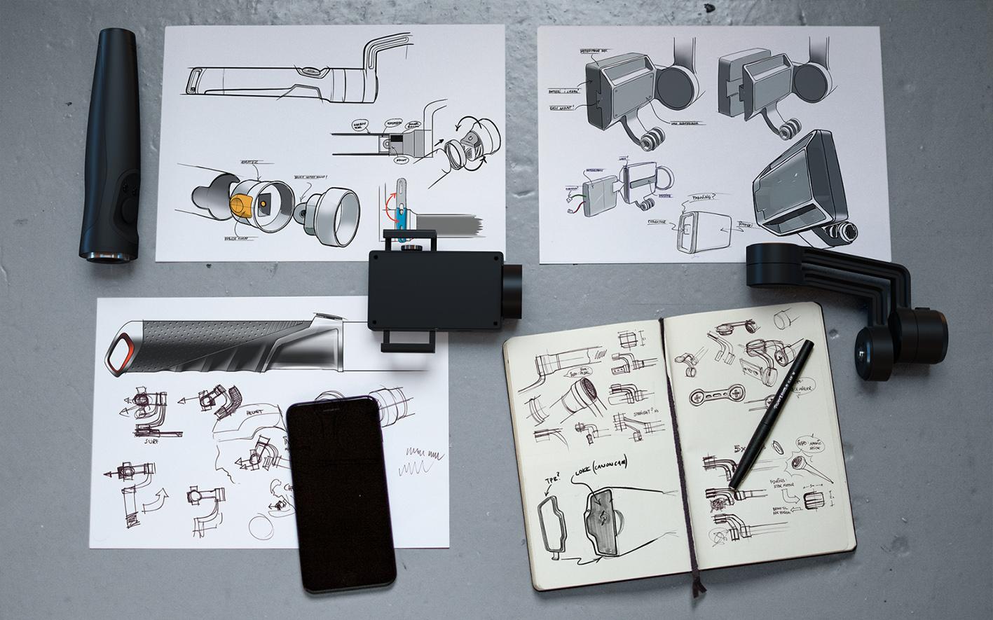 Smart. EGGS har vært med på å designe FlowMotion One, som er en stabilisator for smarttelefoner.