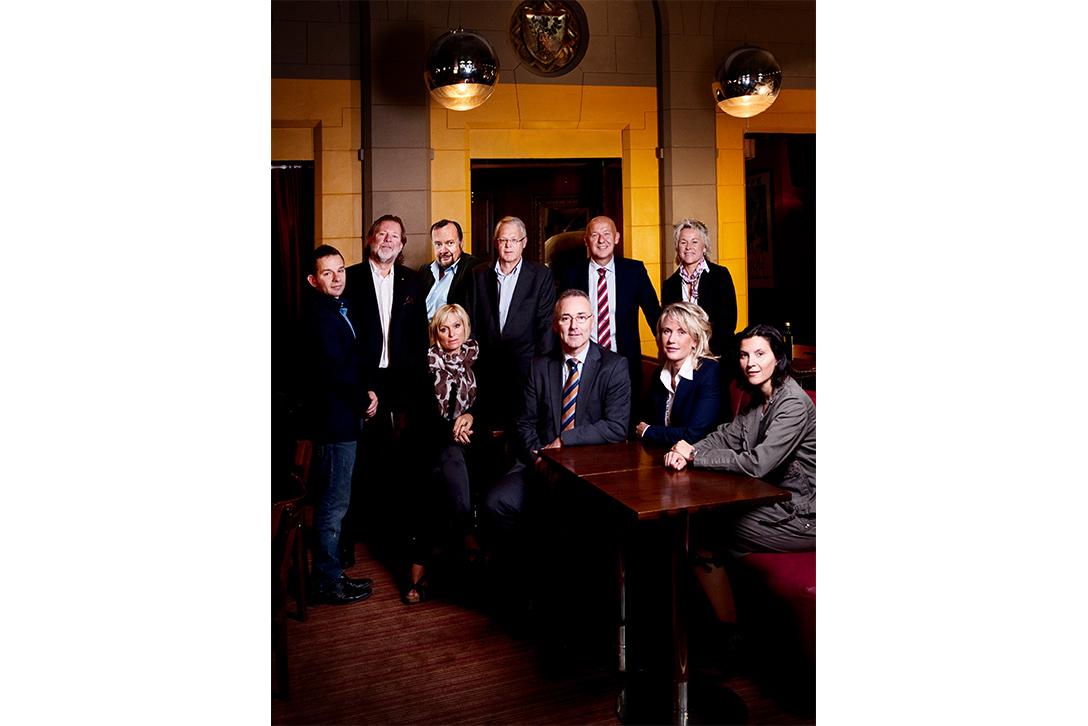 Jubileumsåret 2012. Ole-Martin Utgaard sammen med mange markante personligheter i NiT-styret anno 2012, da 150-årsjubileet til Næringsforeningen ble feiret. Foto: Schrøder