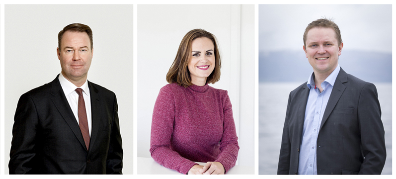Tre nye styremedlemmer ble innvalgt i NiTs generalforsamling 24.3.2020. F.v.: Trond F. Mellingsæter, May Britt Markussen Bjørnevaag og Vegar Johansen.