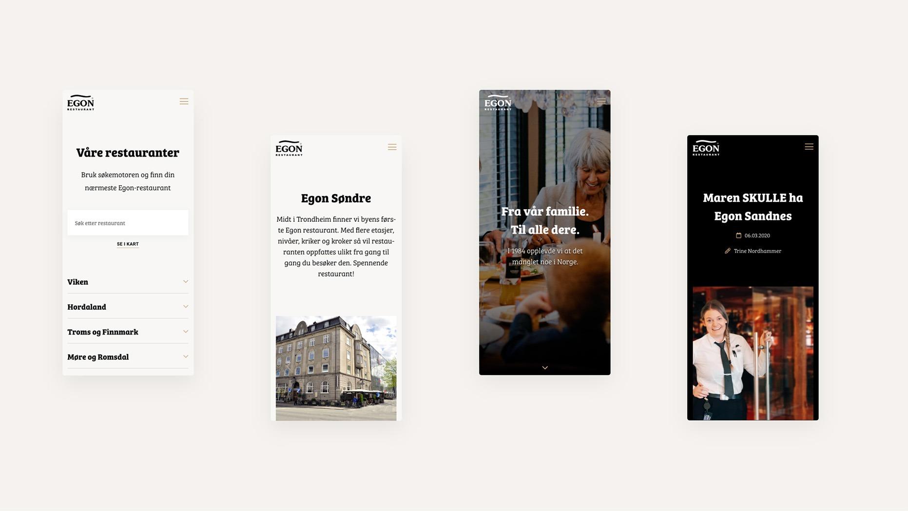 Egon.no er designet for alle enheter med en mobile-first tilnærming