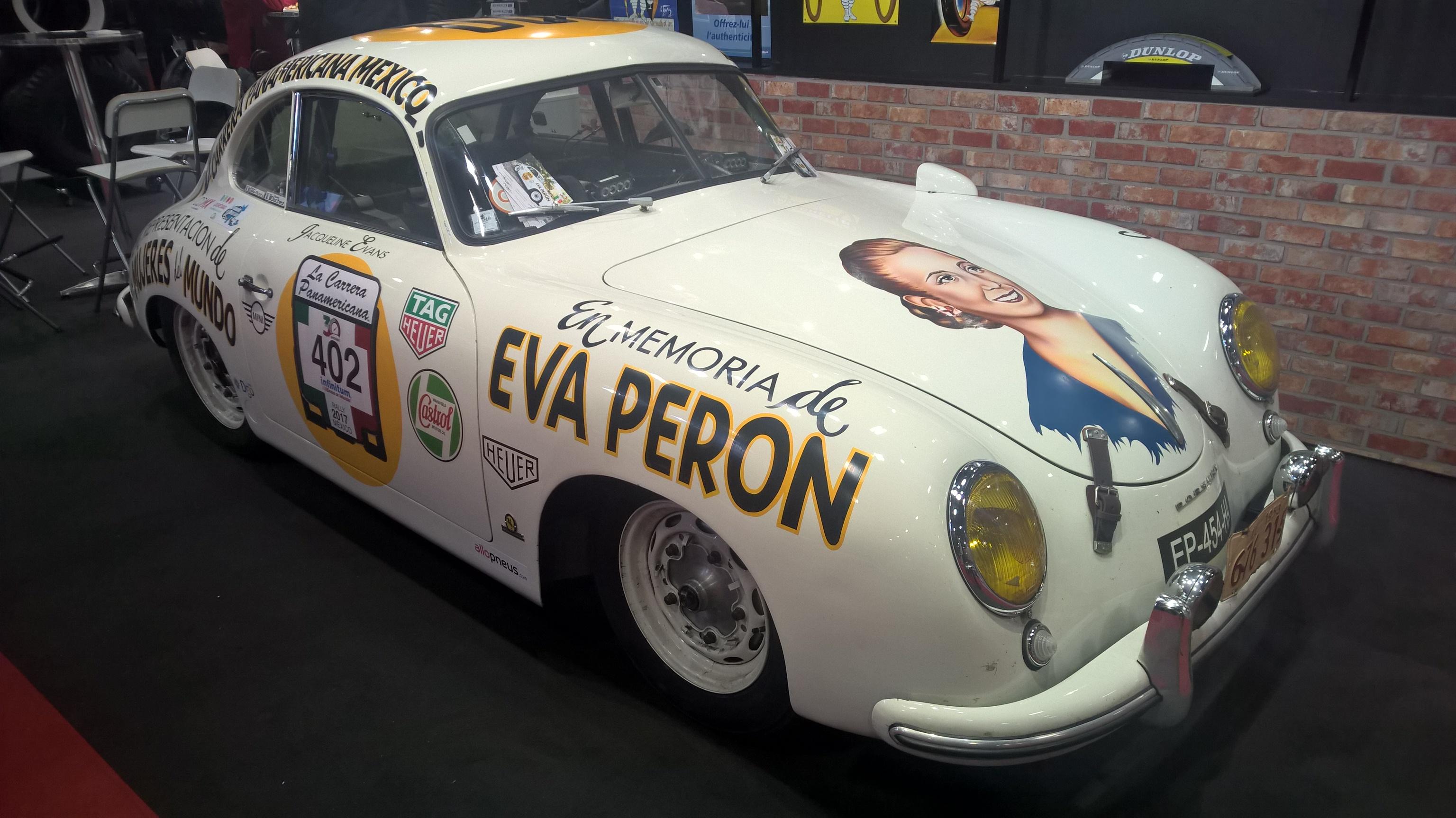 Porsche 356 er alltid kult, og i hvert fall en som har deltatt i historisk racing, med Carrera-Panamericana stuk med Eva Peron på panseret. Kulhetsfaktor: 10/10.