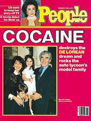 Enkelte magasiner som People, var ikke så veldig forsiktige i sin omtale av DeLorean-saken…