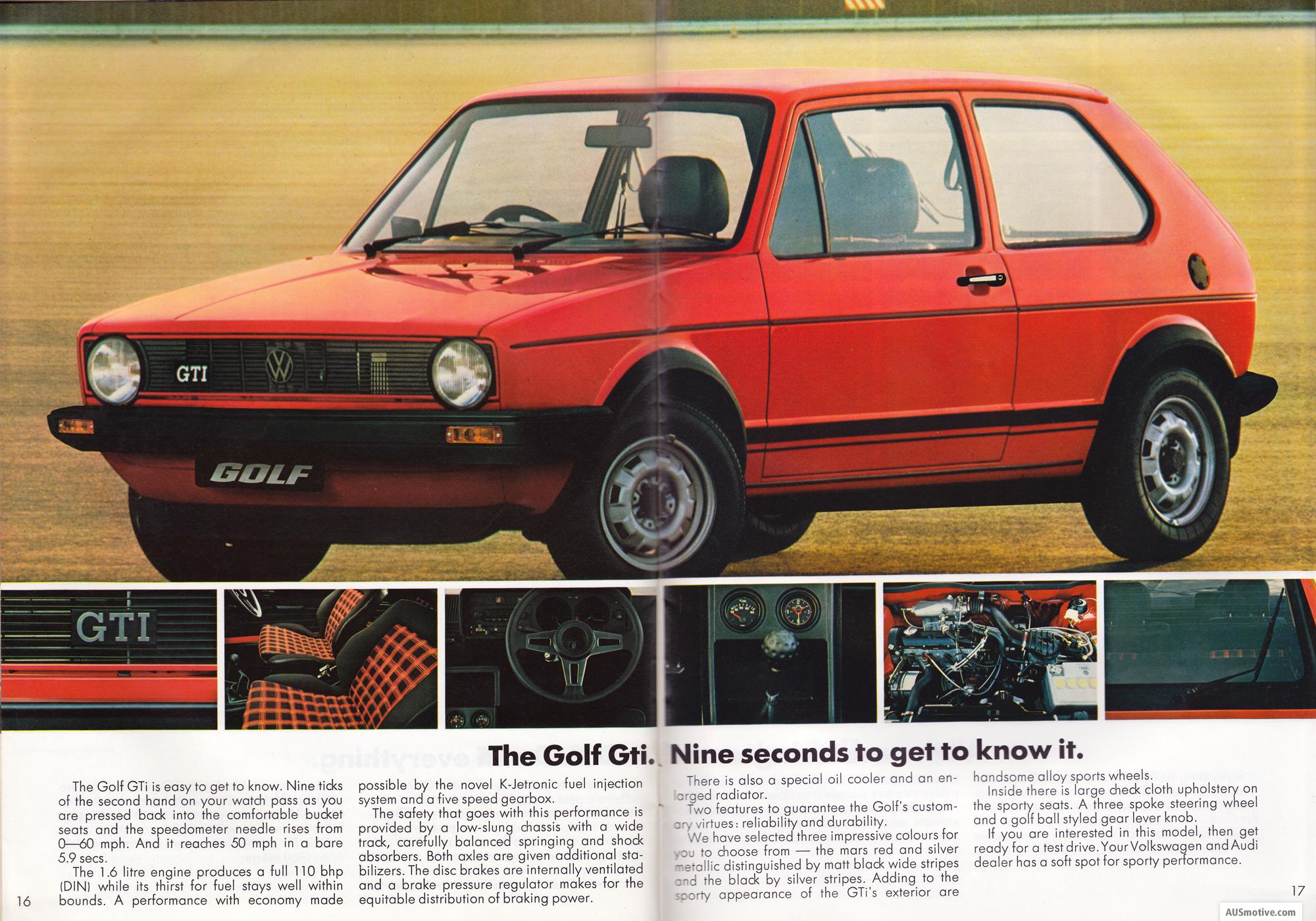 Det faktum at bilen brukte ca. 9 sekunder fra 0-100 km/t brukte VW flittig i sine brosjyrer.