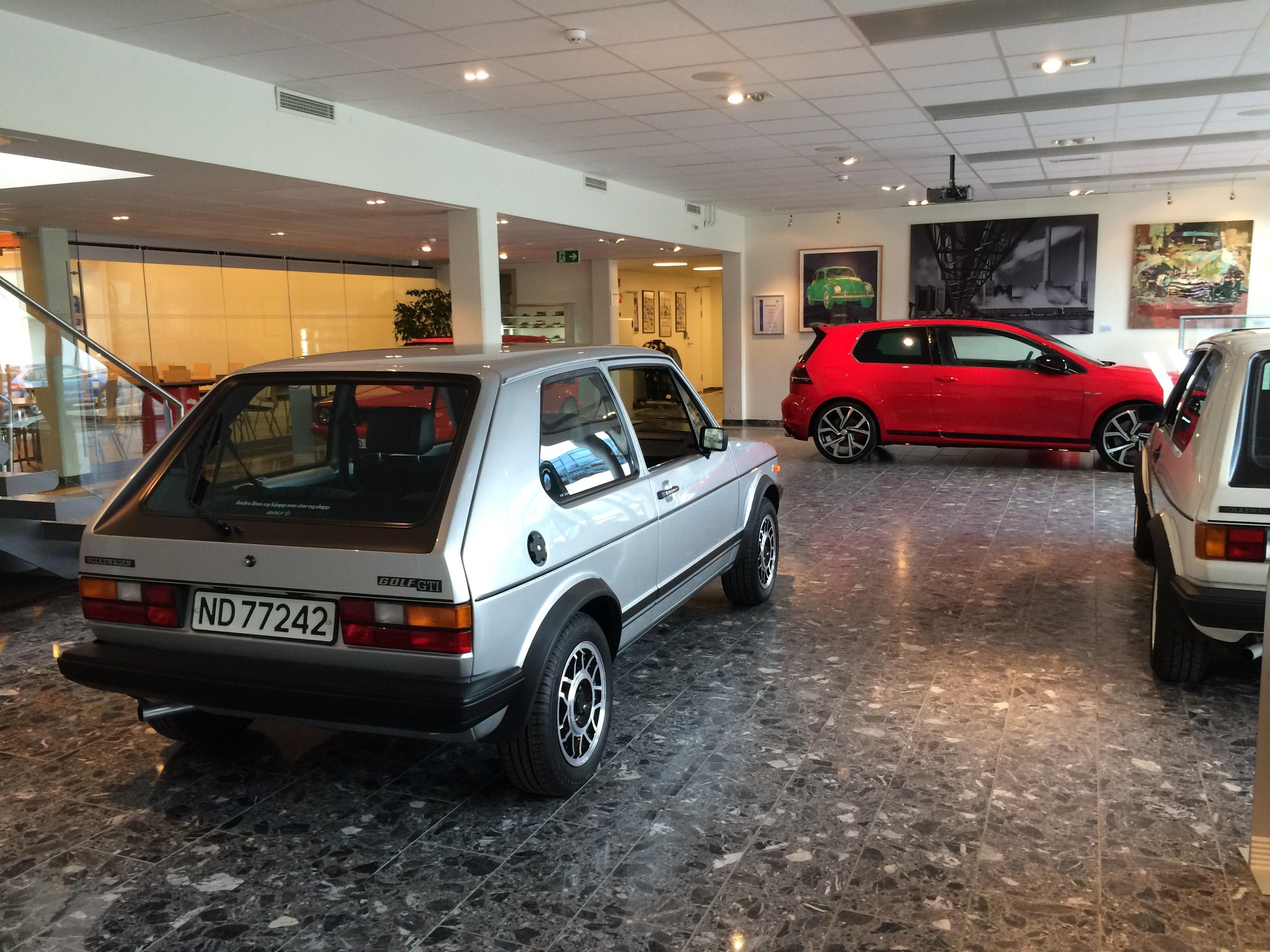 Kopperuds GTI utstilt hos Møller på Frysja.