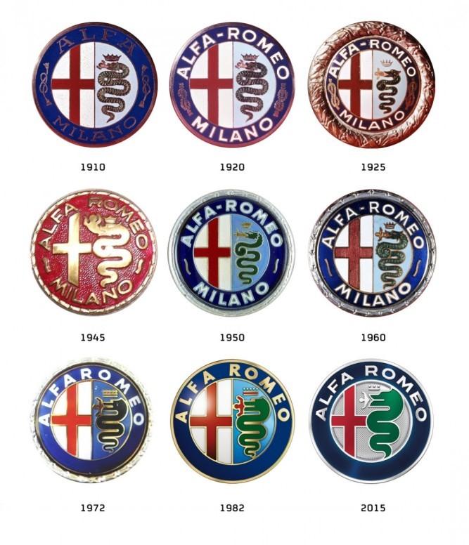 Her ser man hvordan logoen har forandret seg opp gjennom årene.