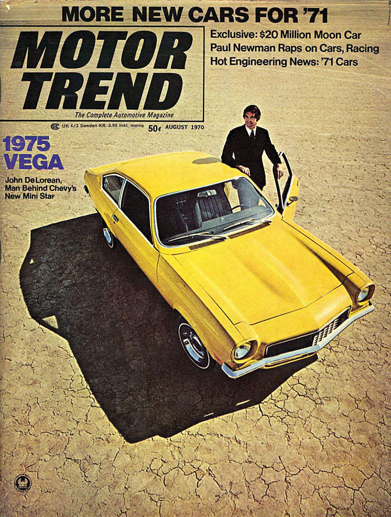 Mannen bak Chevrolets nye ministjerne. Det var tittelen Motor Trend ga DeLorean i 1970, i forbindelse med Chevrolet Vega.