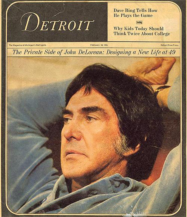 Pressen interesserte seg stort for DeLorean, og han fikk ofte coverforsider som her fra 1974.