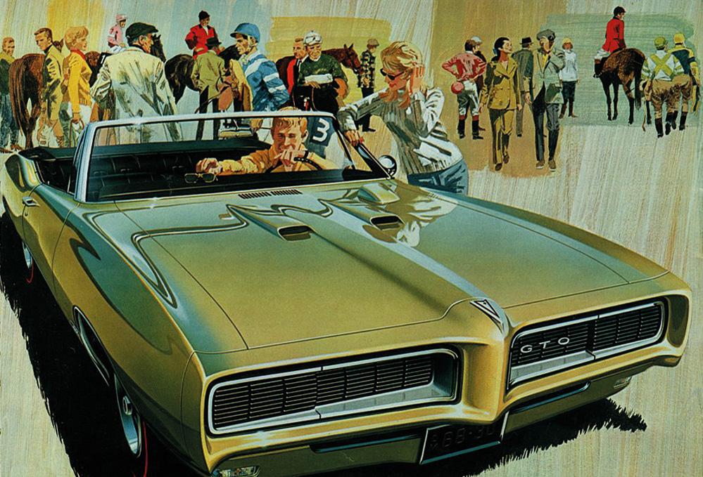 1968 Pontiac GTO var en av bilene som DeLorean var med på å gjøre legendarisk.