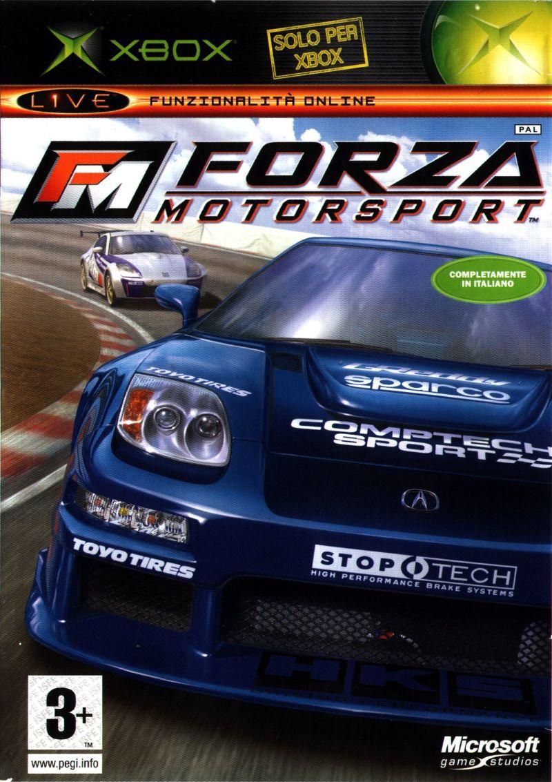 Coveret til Forza Motorsport hvor 350z er avbildet i bakgrunnen.