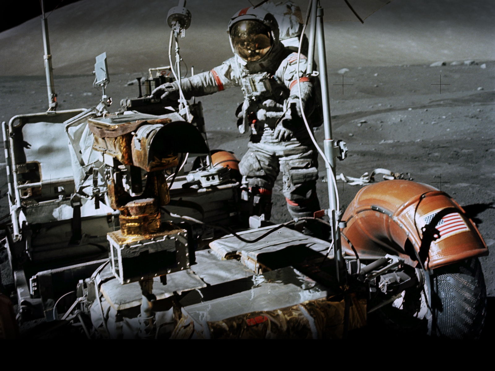 Månebilen på Apollo 17-ferden, var den som fikk kjøre lengst distanse på månen.