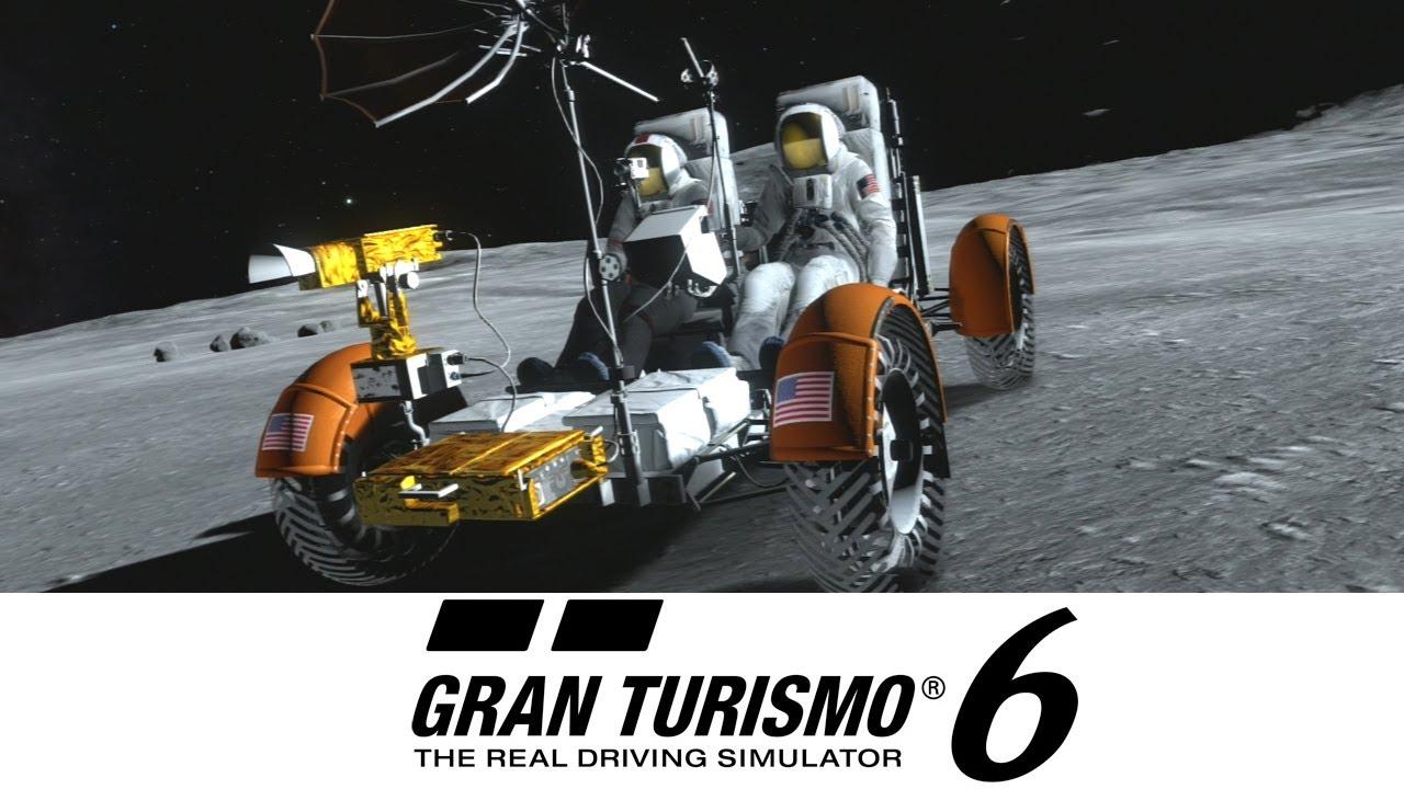 I det populære kjørespillet Gran Turismo, dukket månebilen opp som et kuriøst innslag i den sjette utgaven av spillet.