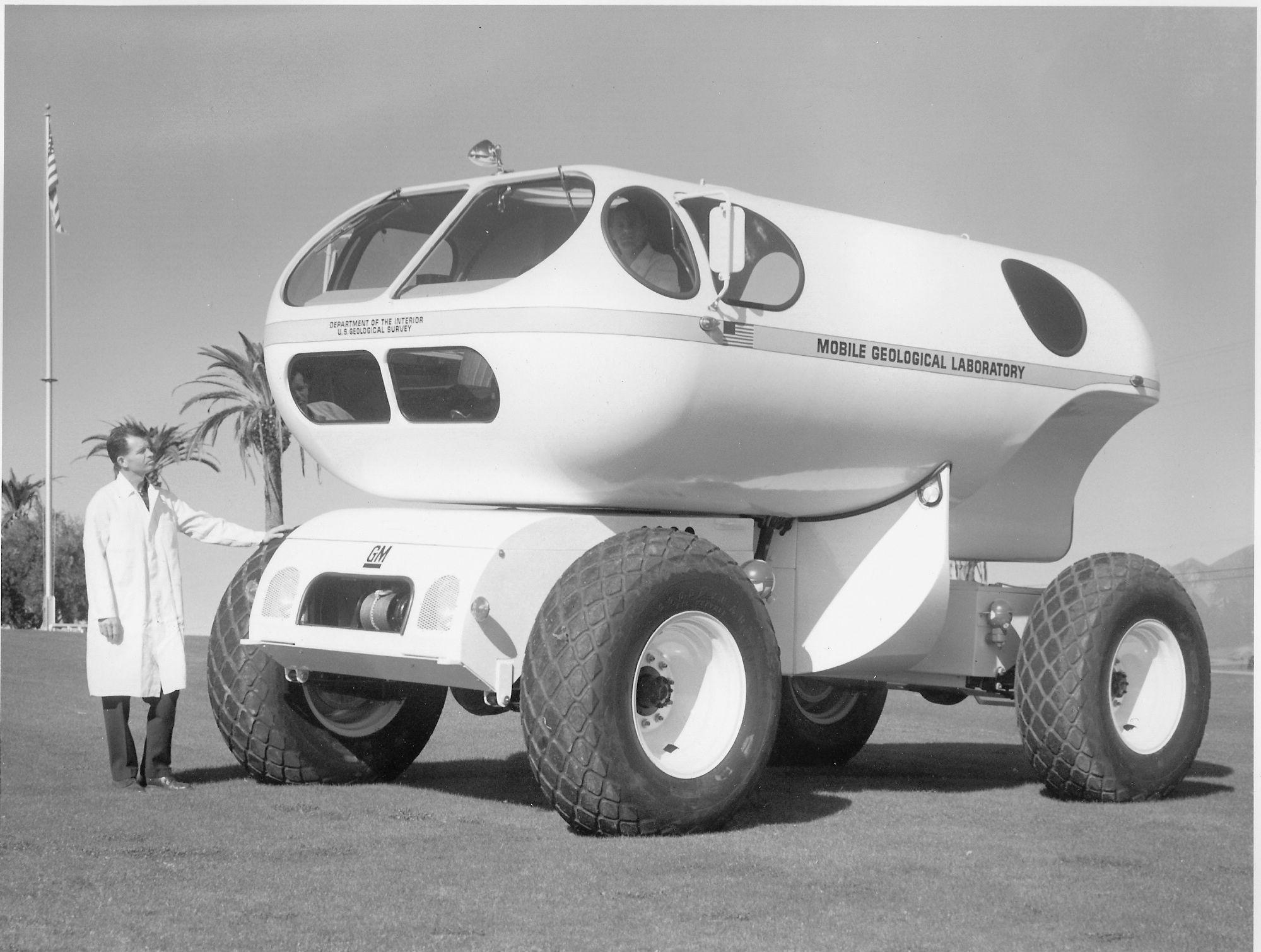 En MOLAB bygget av GM i 1966 til bruk som ett geologisk laboratorium.