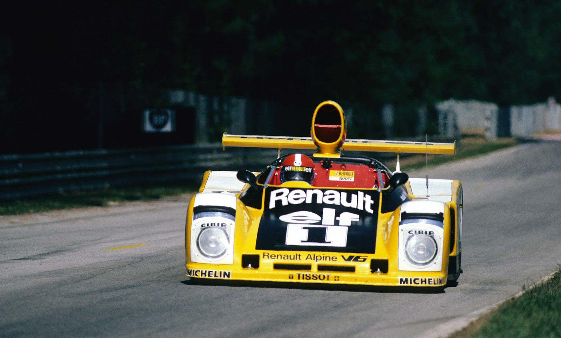Den suverent raskeste bilen under Le Mans i 1978 var #1, som var den nybygde A443. Den dominerte løpet (her med Jabouille bak rattet), men kom aldri til mål.