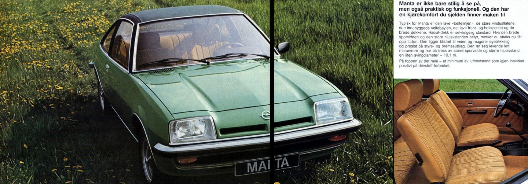 Norsk reklame for den nye andregenerasjonen av Manta, nemlig Manta B.