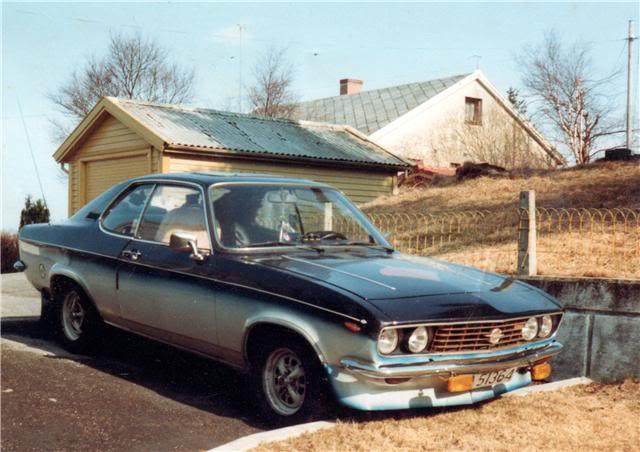 Man kan forstå at man som barn ble forelsket i Opel Manta, da fars Manta A så slik ut!