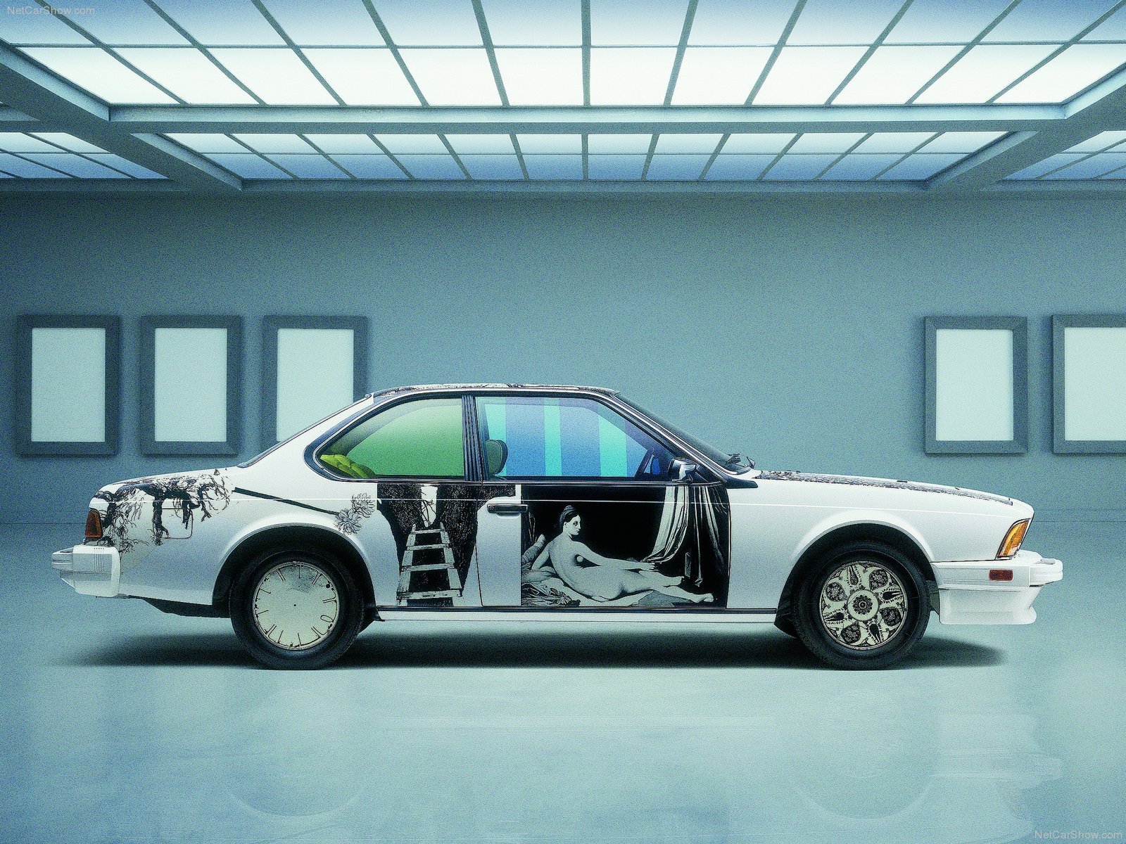 "1985 BMW 635CSi ""art car"" av Robert Rauschenberg"