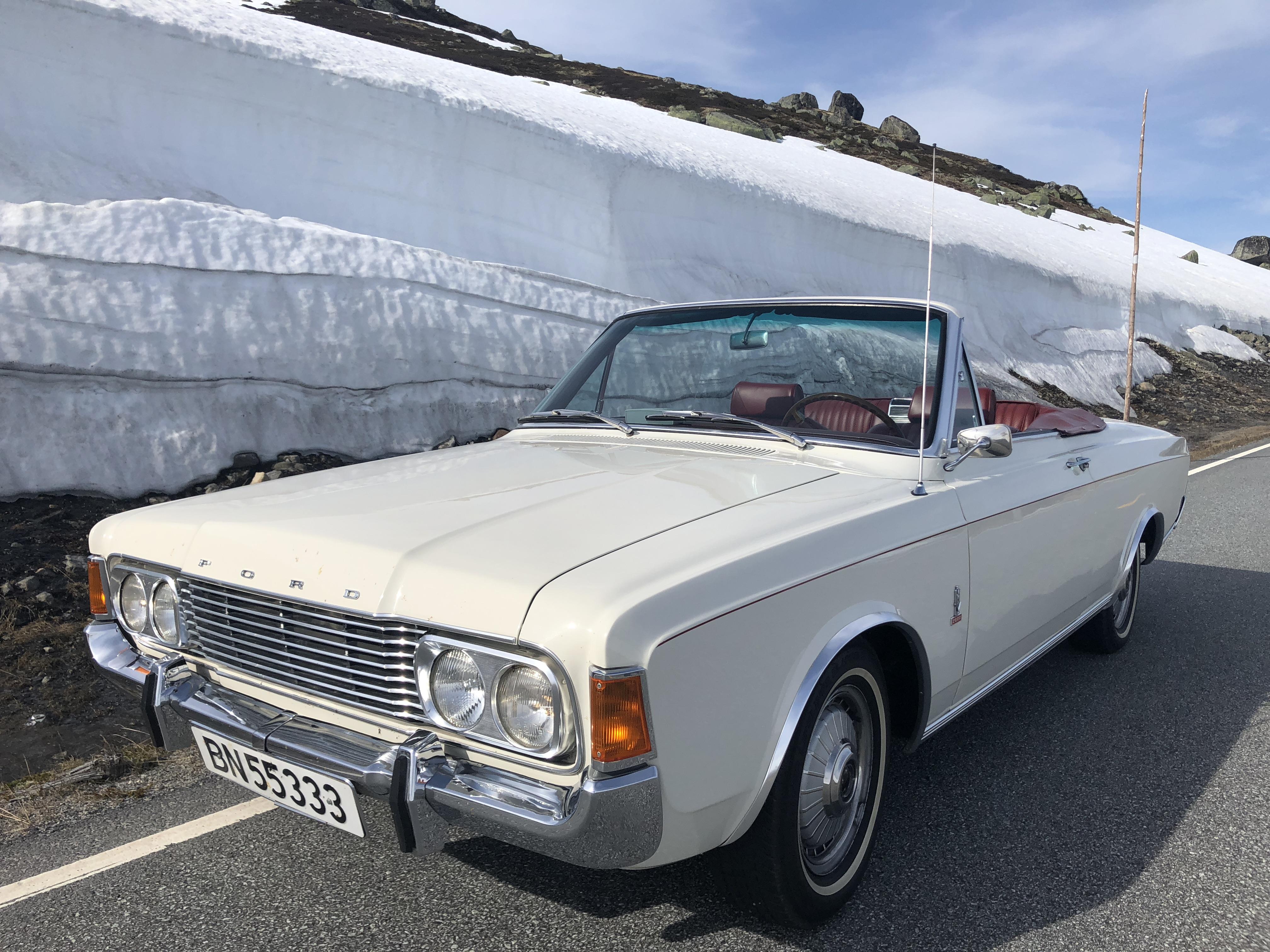 Dette er Indrehus sin favorittbil i samlingen med Ford M. en 1971 modell 26M kabriolet som det kun ble laget fire eksemplarer av.