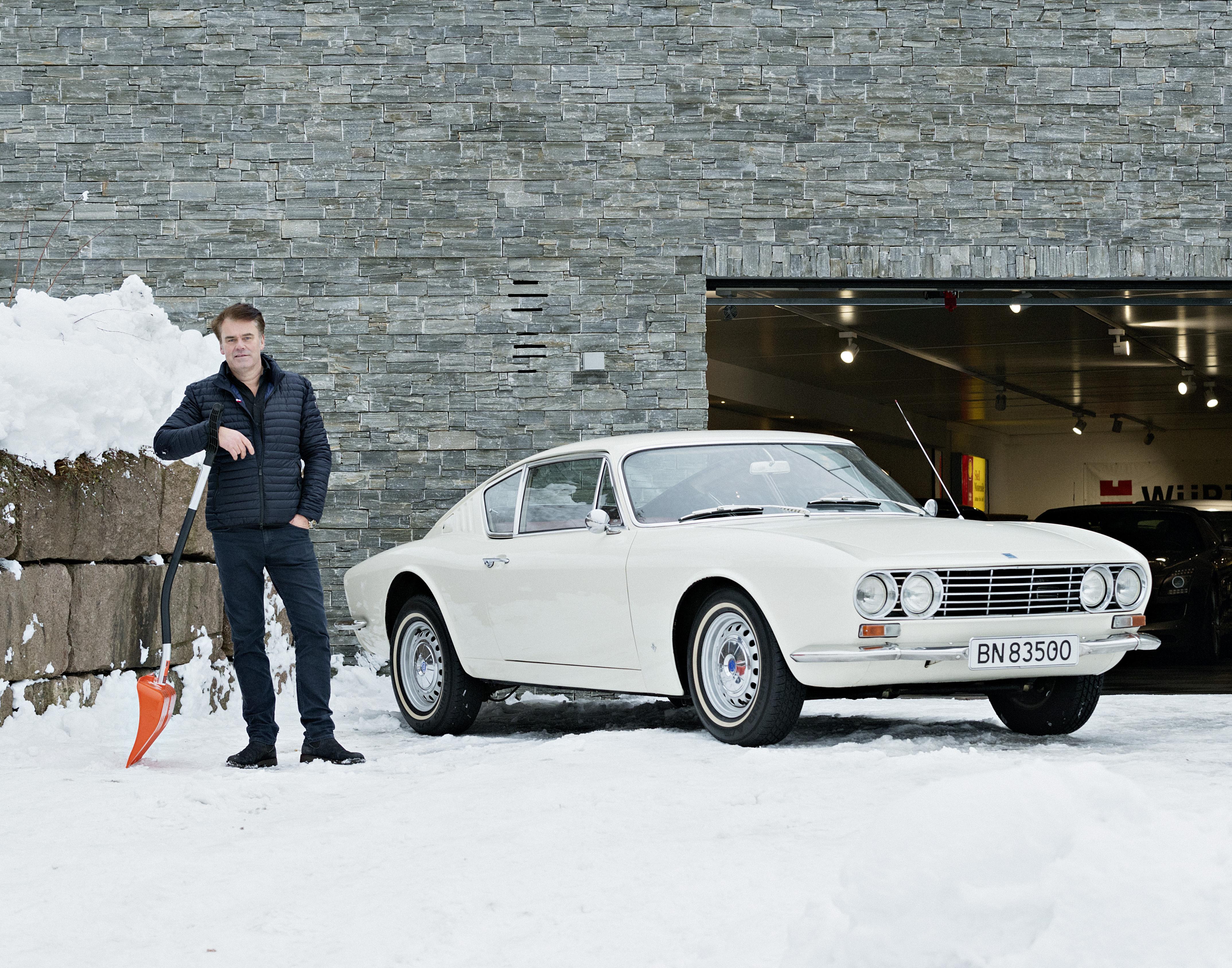 Arvid Indrehus må være mannen med mest innflytelse i landet når det kommer til Ford M. Her med sin Ford 20M TS 1967 modell. Produksjonsnummer 264 av knappe 2200 stykk.