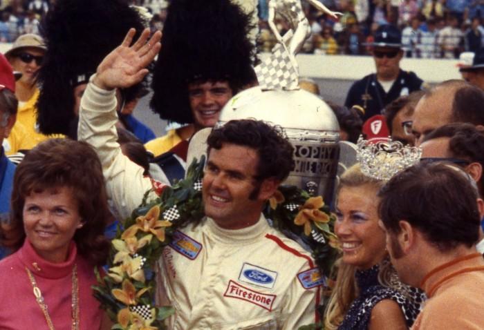 Al Unser etter sin første triumf i Indianapolis 500 i 1970. Foto: Indianapolis Motor Speedway