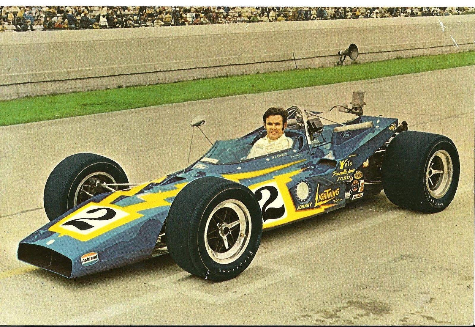 Al Unser i sin Johnny Lightning Special, før seieren i Indy 500 i 1970. Foto: Indianapolis Motor Speedway