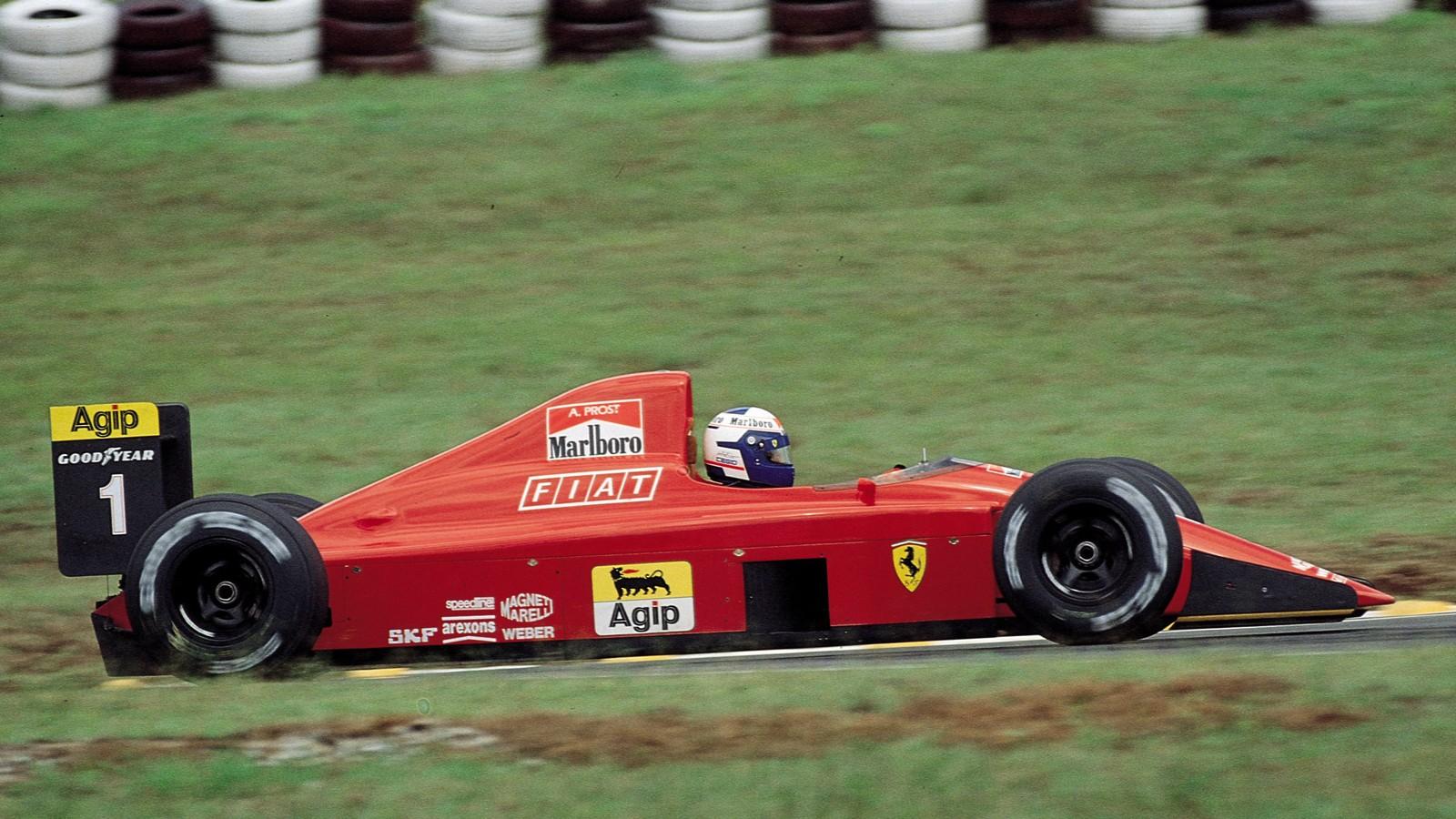 Prost var råsterk i 1990. Han skjøv Mansell ut i kulden, og sørget for å gjøre Ferraris bil til en vinnermaskin.