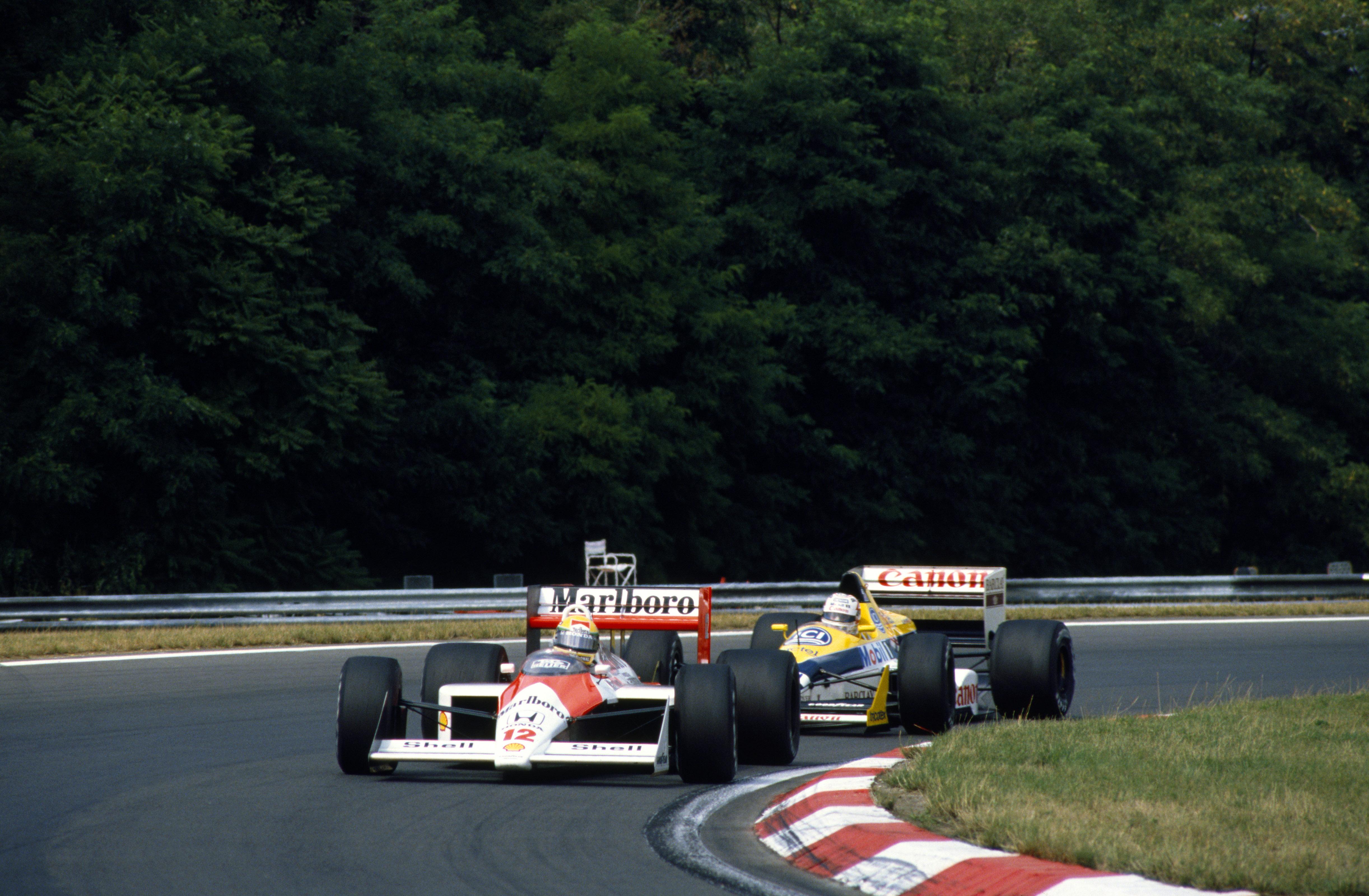 Senna var alltid rå på Spa, her på vei mot seier i 1988 i sin McLaren. Foto: Williams