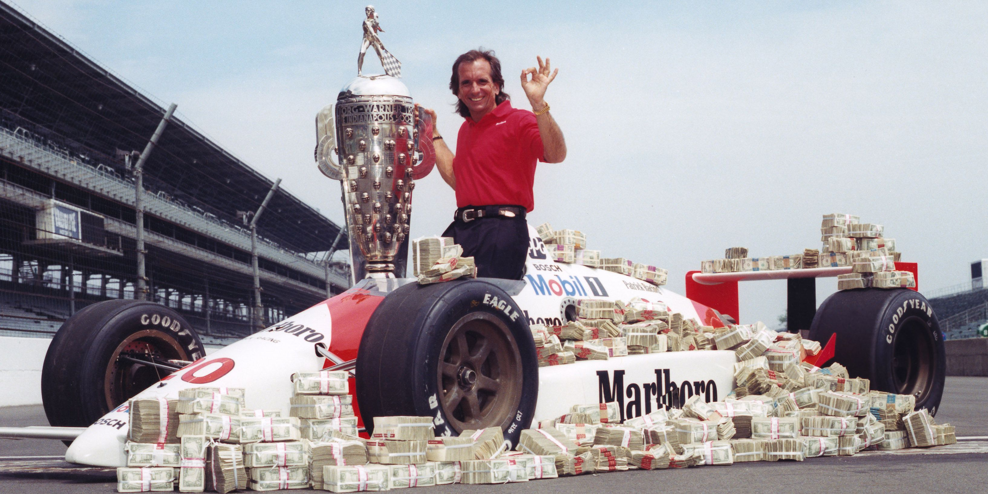 Seieren i Indy 500 i 1989 gjorde at Emmo kunne innkassere over 1 million dollar i premiepenger. Foto: Indianapolis Motor Speedway