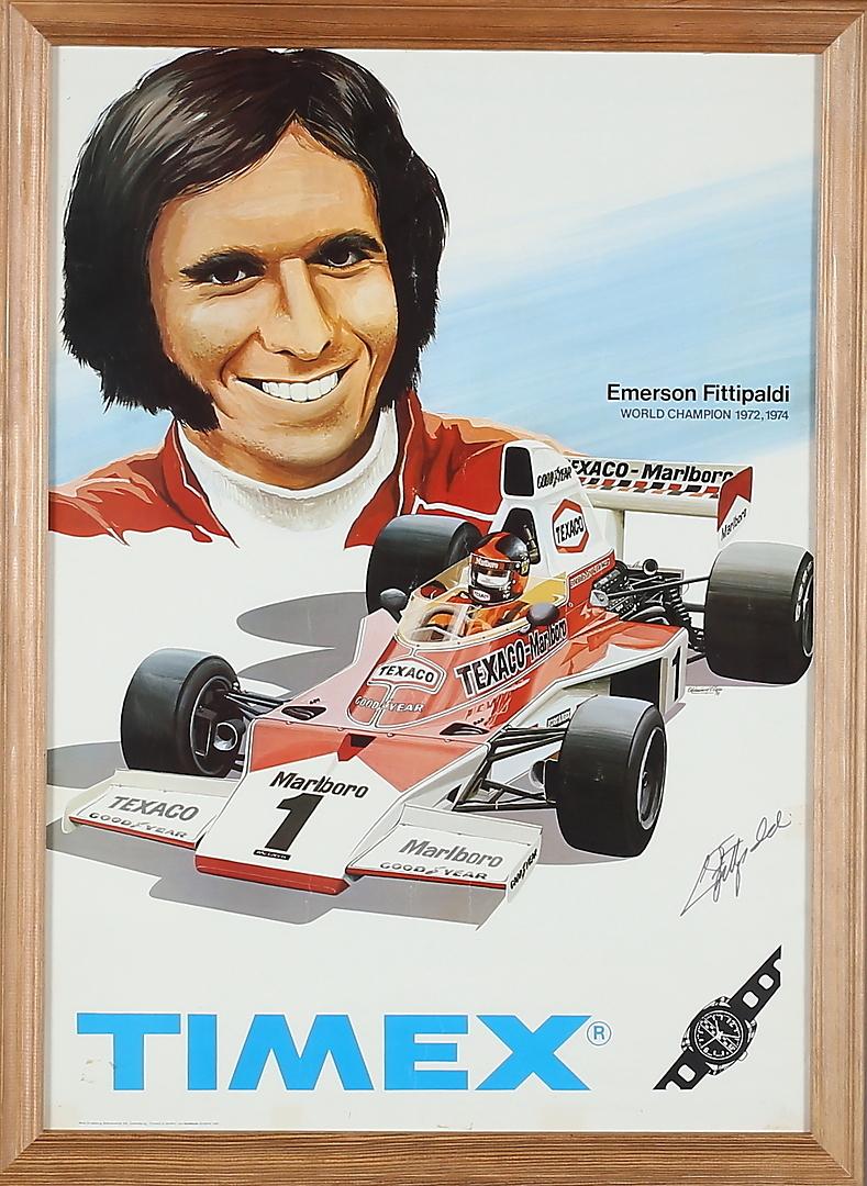 Hva med en Timex-klokke som verdensmester Fittipaldi?