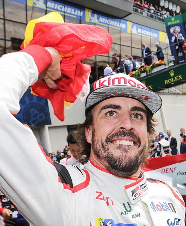 Alonso har til nå kjørt Le Mans 2 ganger, og vunnet ved begge anledninger. Det er en imponerende statistikk, selv om Toyota ikke hadde noen reell konkurranse fra andre team. Foto: Toyota