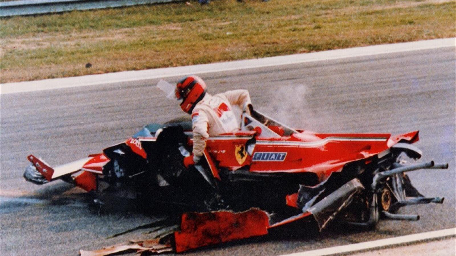 Det ble en del krasj, uten at det fikk Gilles til å lette på gassen.  Foto: Eurosport