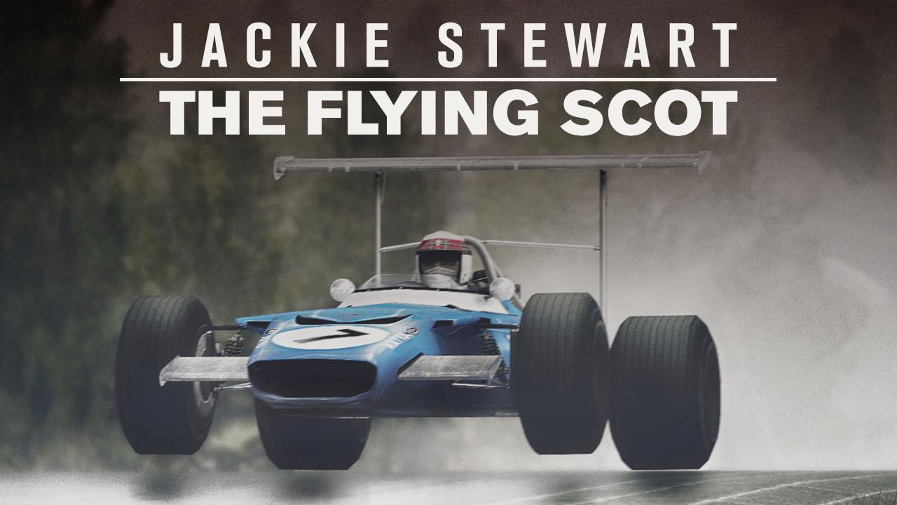 Stewart var en pådriver for mer sikkerhet i sporten, men var allikevel ofte den raskeste under forferdelige regnforhold på de aller farligste banene, som her på Nürburgring i 1968, hvor han vant med over fire minutter på nestemann.