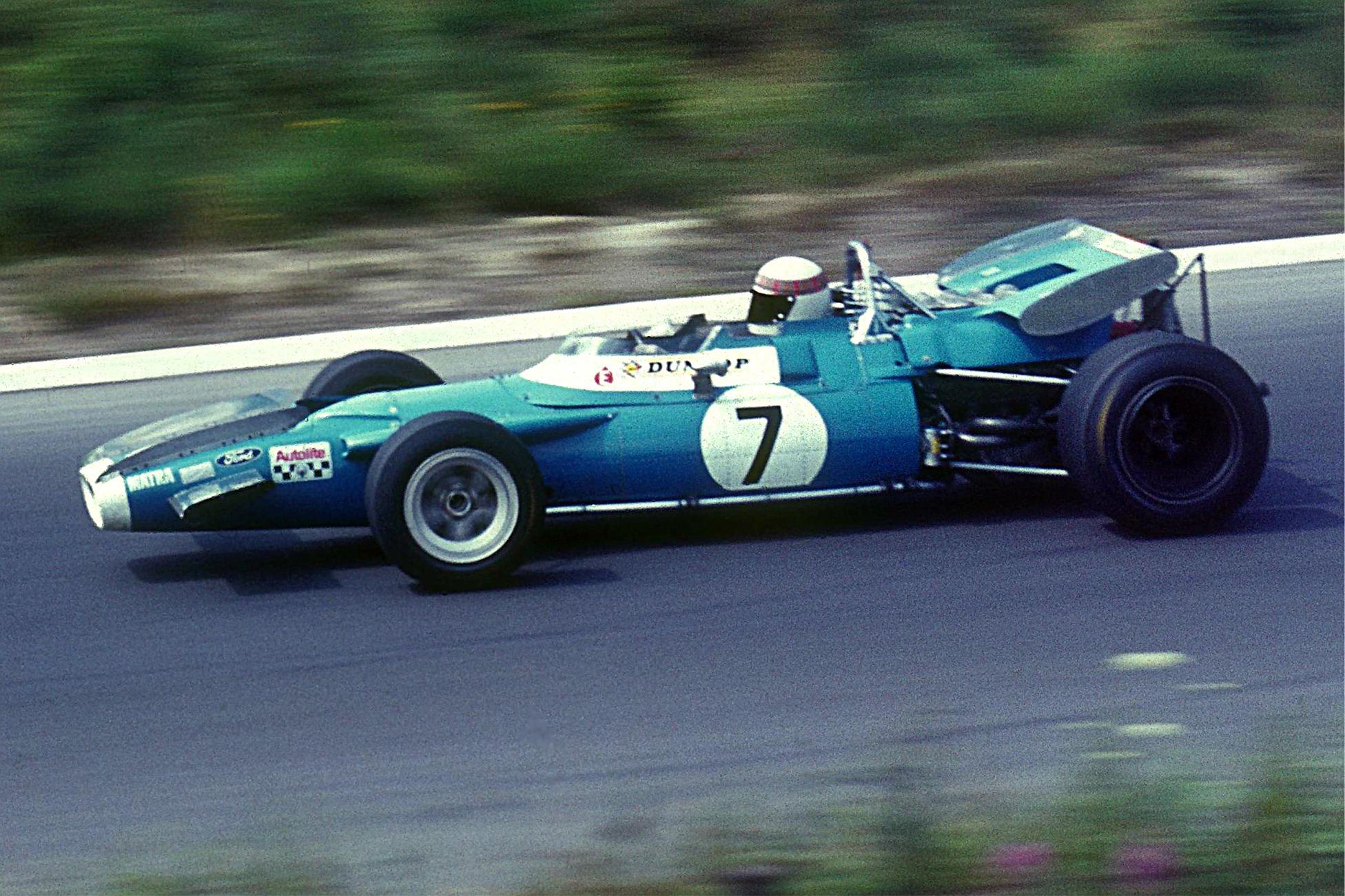 Stewart tok sin første VM-tittel i 1969. Her i sin Matra MS80 på Nürburgring det året, hvor han ble nummer to. Foto: Wikipedia.