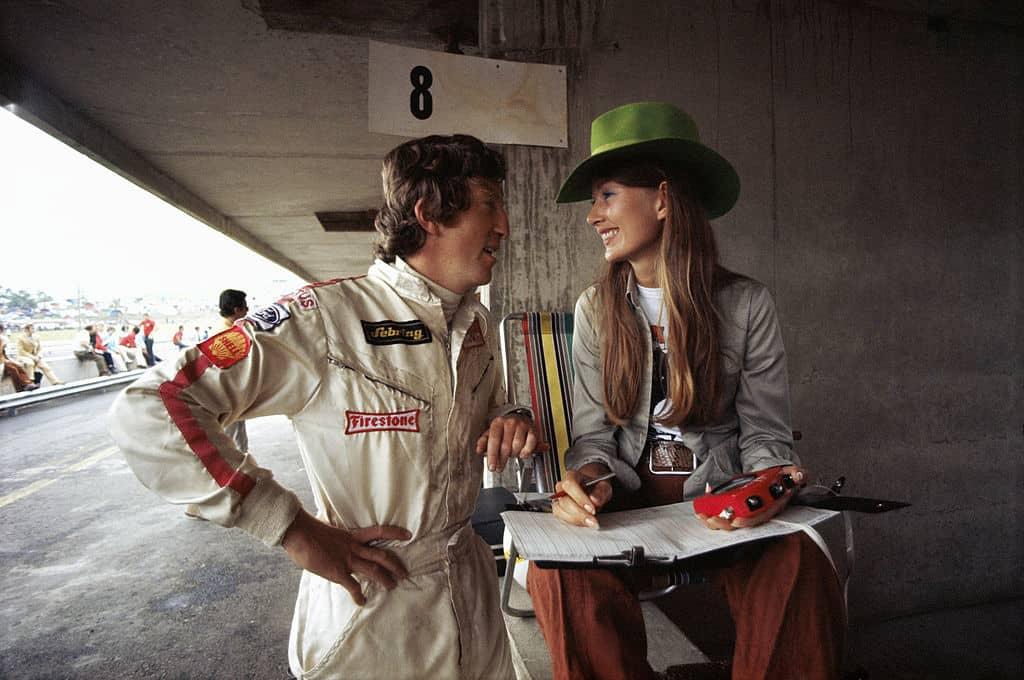Jochen og Nina Rindt i depotet i forbindelse med Østerrike GP i 1970. Løpshelgen etter var Jochen død.