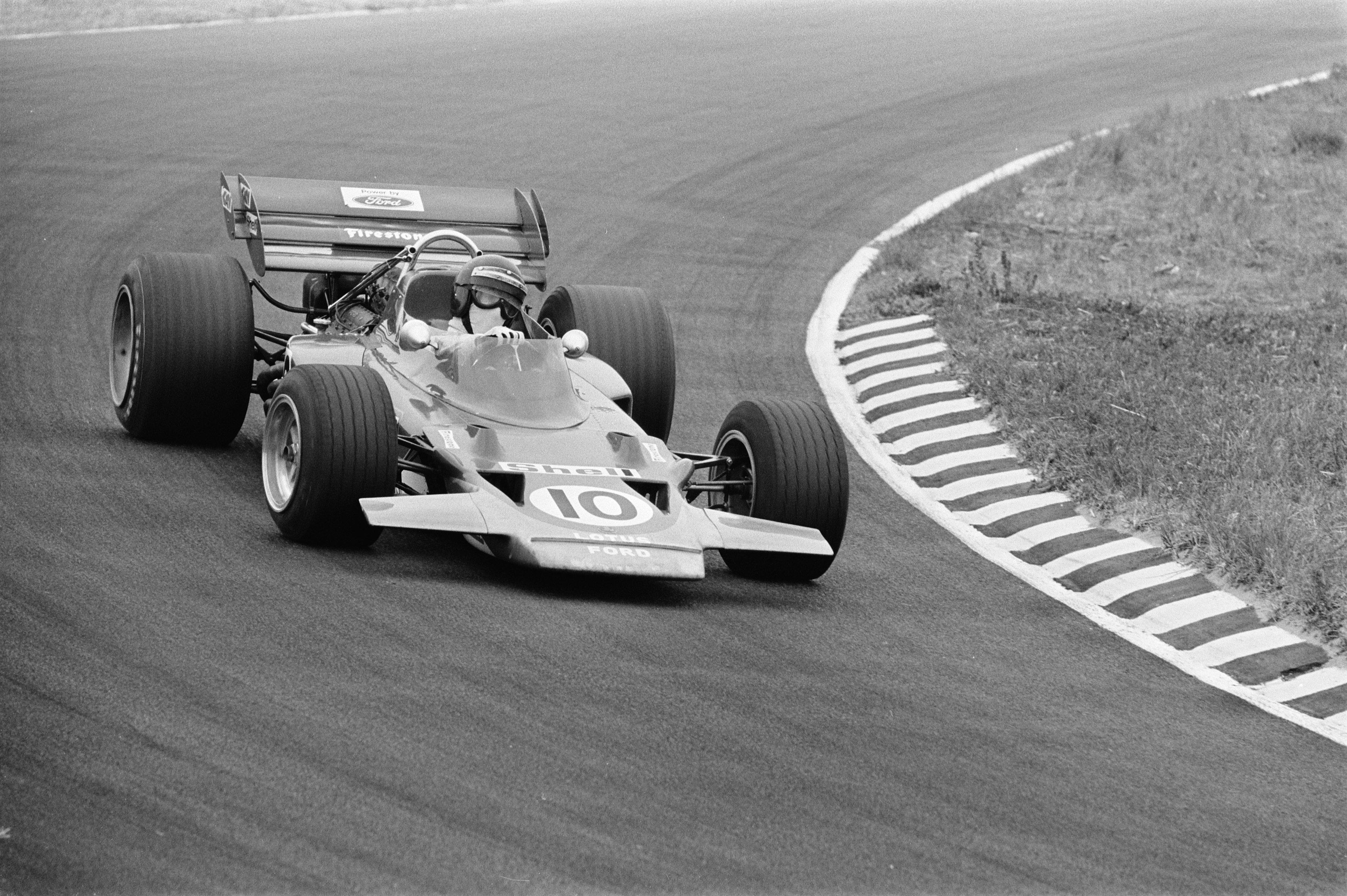 Jochen Rindt og Lotus 72. Mann og maskin i perfekt kombinasjon Holland GP 1970.
