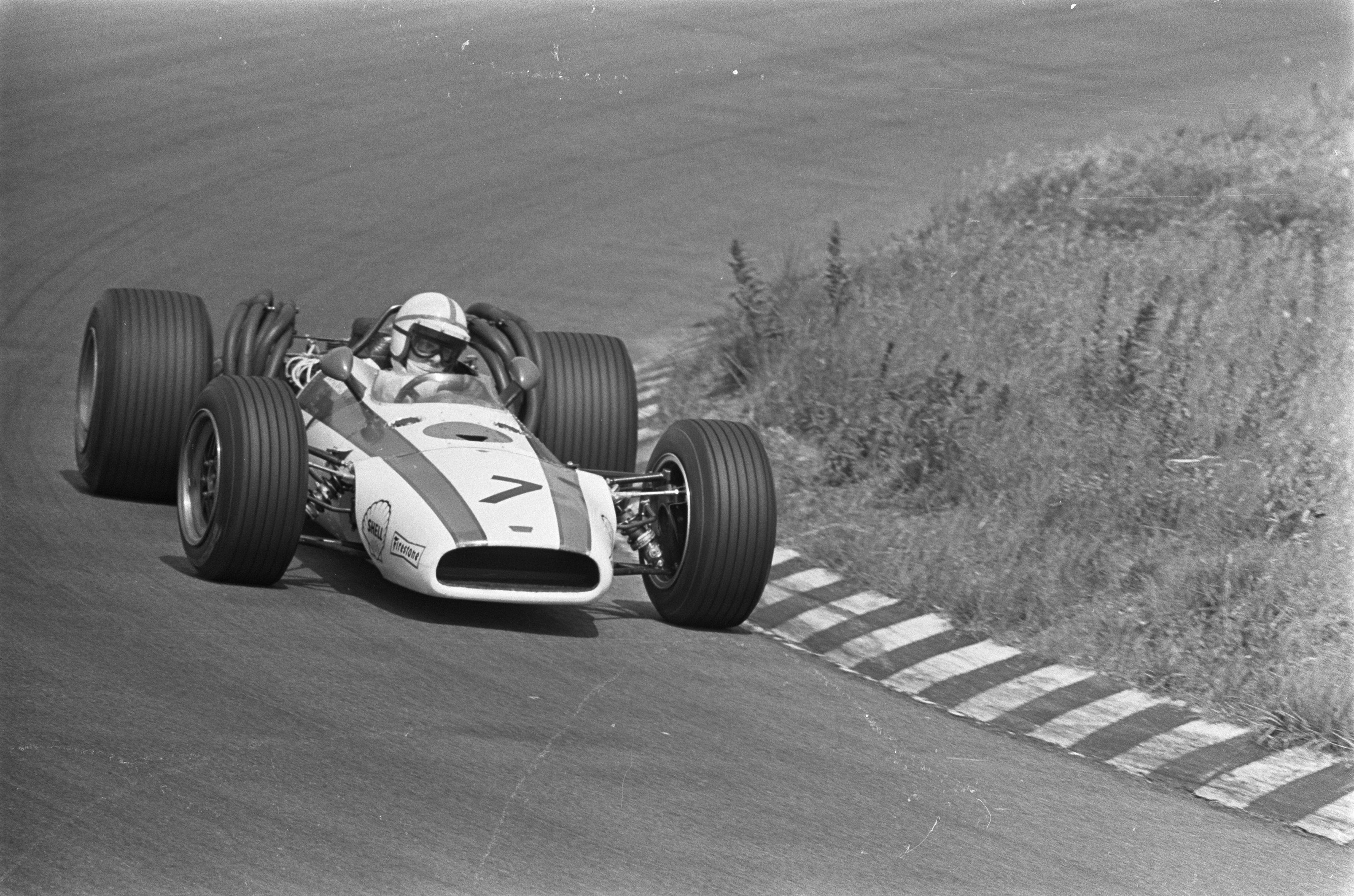 John tilbragte to år hos Honda. Det resulterte i en seier. Her fotografert under Nederland GP 1968.