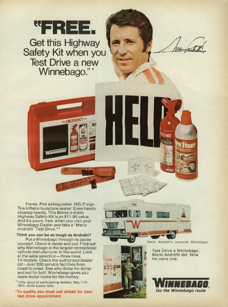 Utover 70-tallet ble Mario Andretti et stort og velkjent navn i USA, og brukt til mange ulike reklamer.