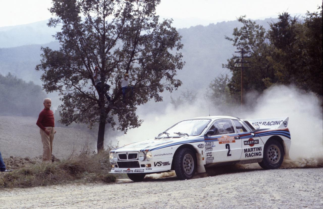 Alén var en fryd å se på bak rattet på sin Lancia 037, under Gruppe B-tiden.