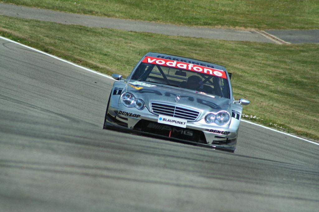 Etter endt Formel 1 karriere prøvde Mika seg i DTM. Det startet lovende, men eventyret tok aldri helt av. Foto: Wikipedia