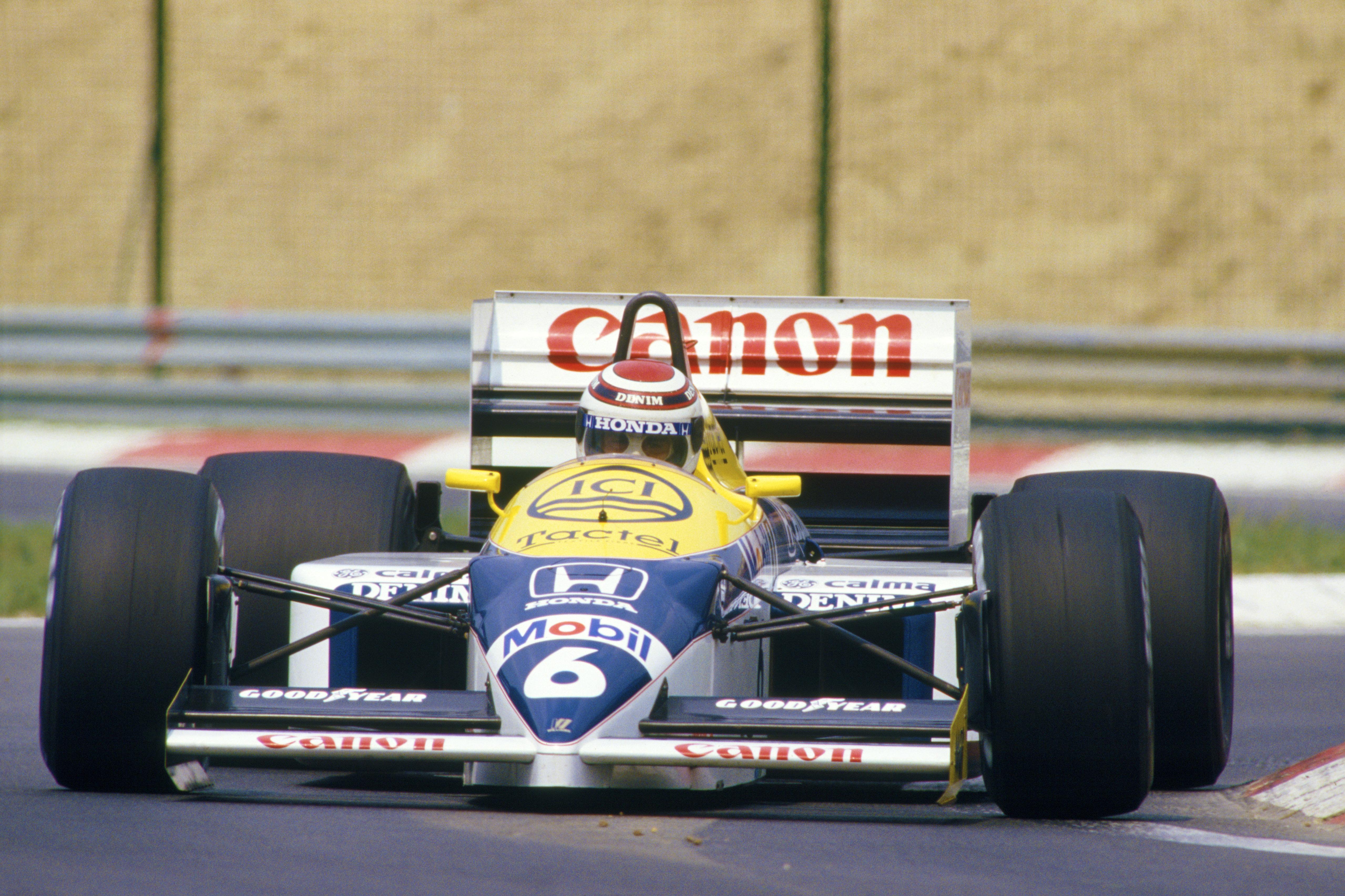 Nelson var strålende i 1986, og ville blitt verdensmester, hadde det ikke vært for at Goodyear fikk kalde føtter i avslutningsløpet. Foto: Williams