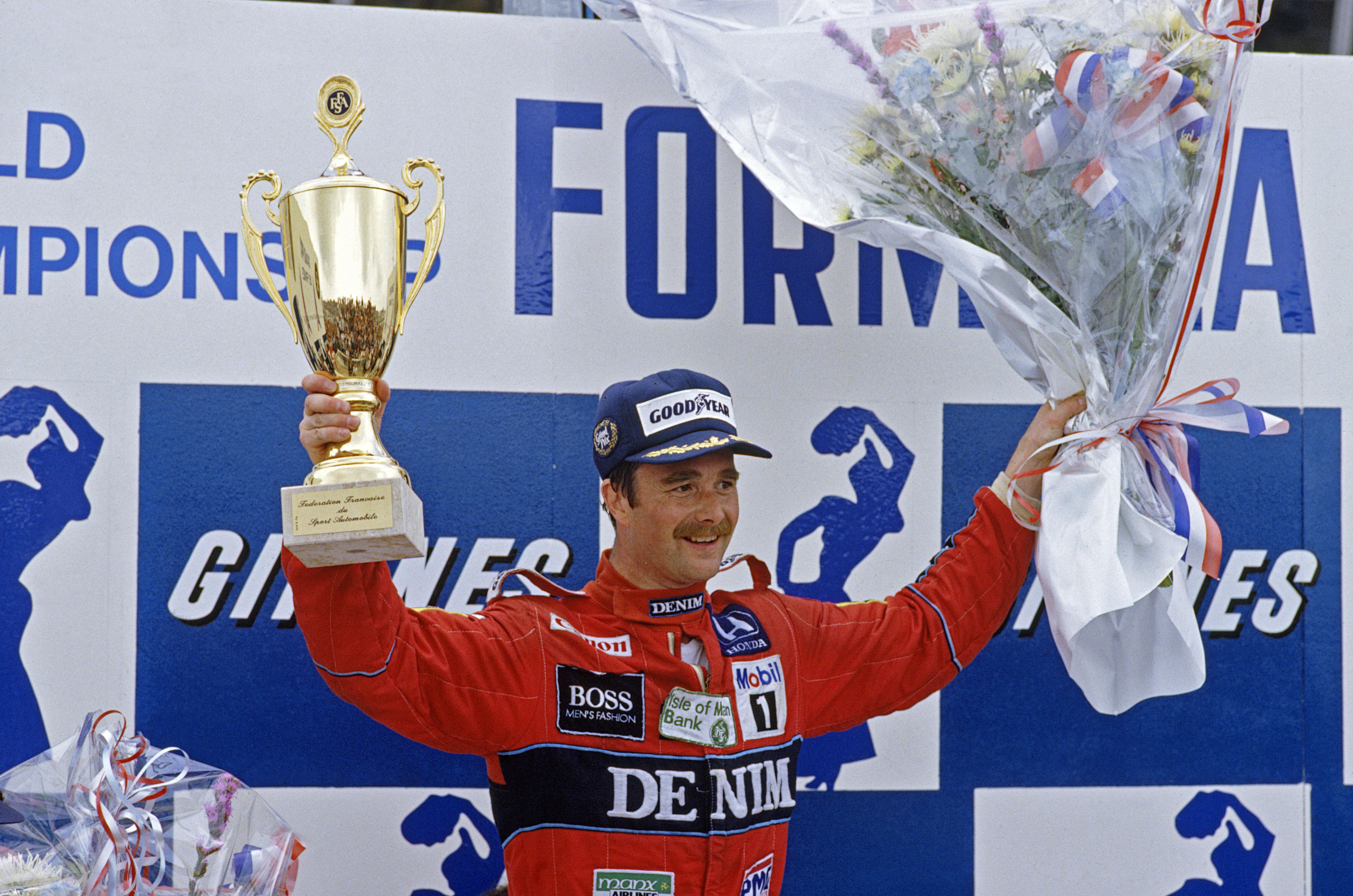 Nigel Mansell var strålende i 1986, men noen VM-tittel ble det ikke. Foto: Williams