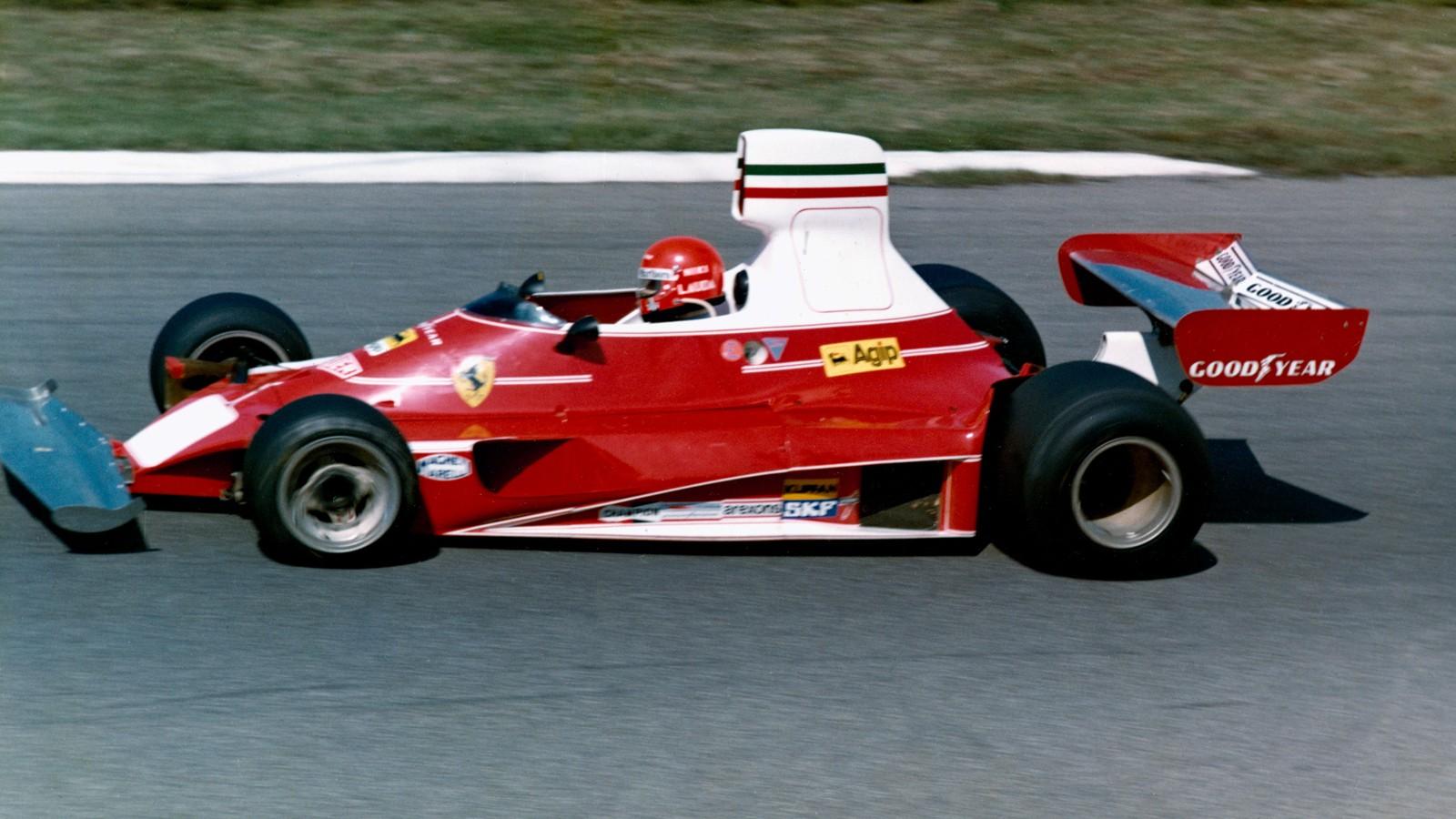 Lauda ble verdensmester for Ferrari i 1975, etter en imponerende sesong.