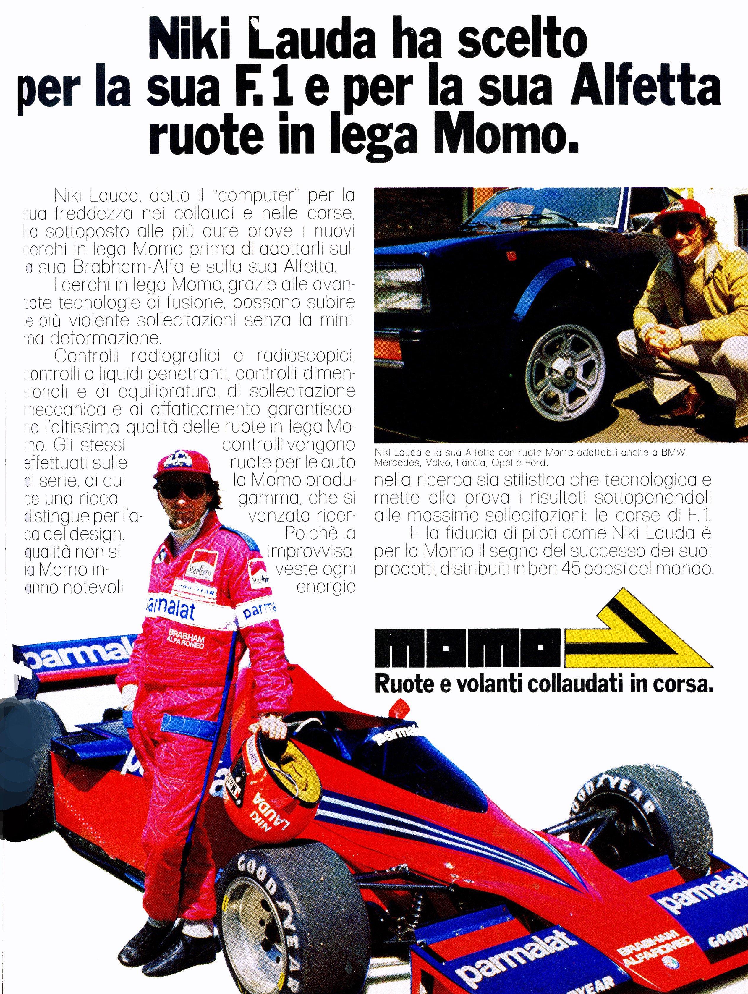 I 1978 kjørte Lauda for Brabham med Alfa Romeo motor. Da måtte han selvsagt også kjøre Alfa Romeo som privatbil.