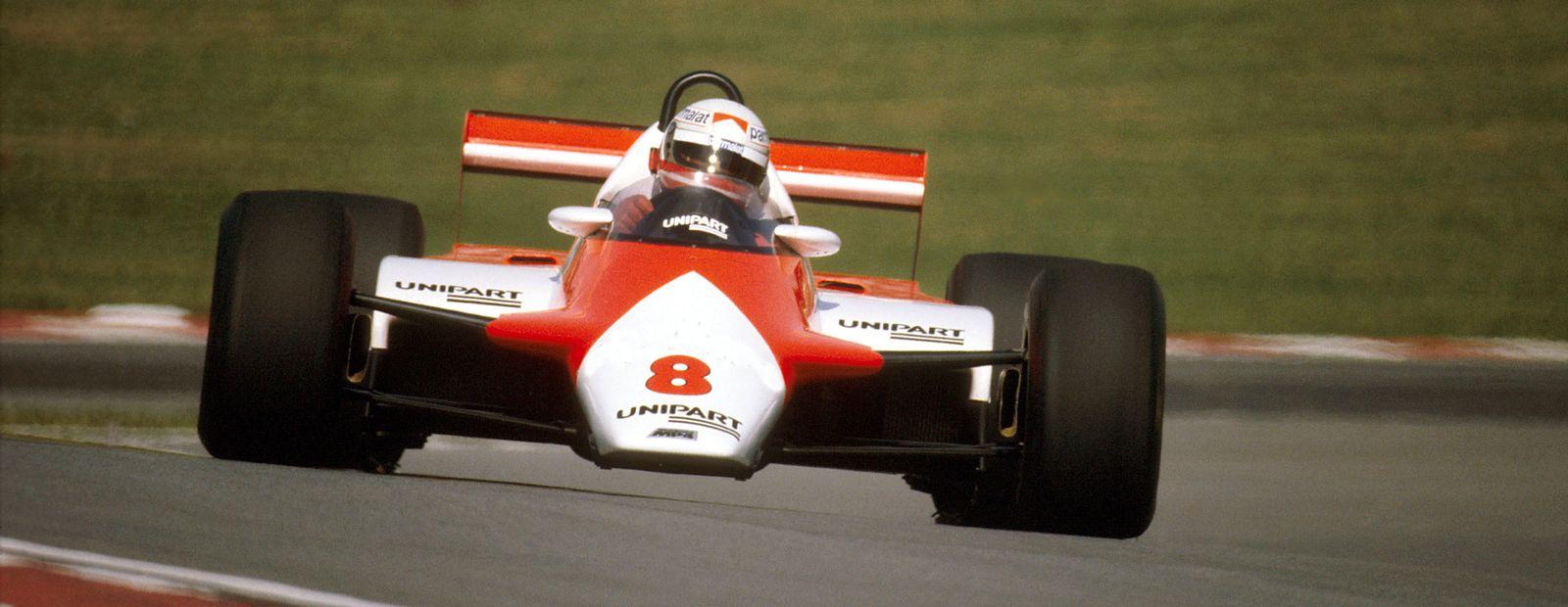 I 1982 gjorde Lauda et sensasjonelt comeback for McLaren, som resulterte i to seire. Foto: McLaren