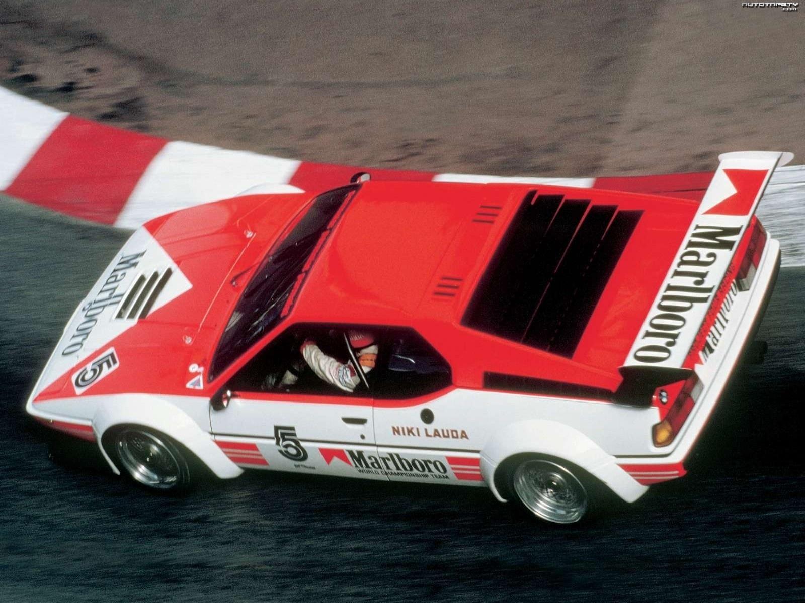 I 1979 ble Lauda procar-mester i sin Marlboro-sponsede BMW M1. Foto: BMW