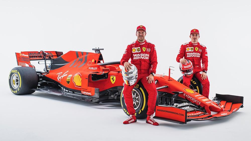 I 2019 fikk Vettel en ny lagkamerat i unge Charles Leclerc. Så langt har ingen av de klart å vinne ett løp (skrevet etter Østerrike GP), men Vettel kom nærmest da han krysset mållinjen som førstemann i Canada GP. Men dessverre for ham, var han ilagt en 5-sekunders straff som ga seieren til Hamilton.