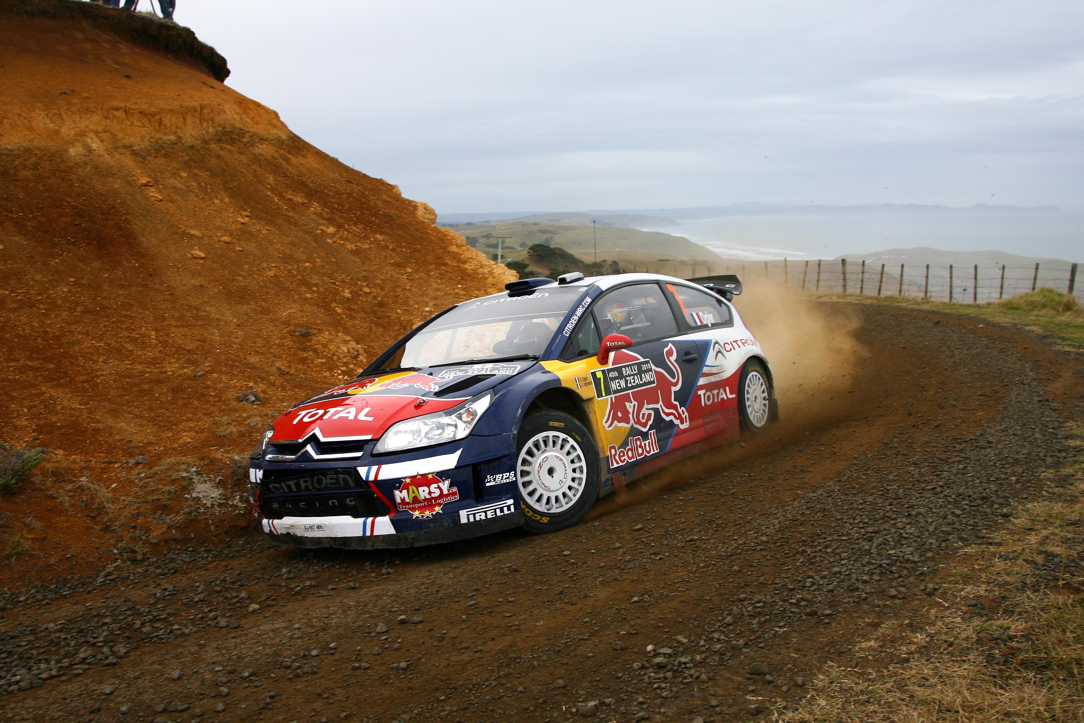 Ogier slo gjennom med et brak i 2010-sesongen, her fra det årets New Zealand rally.