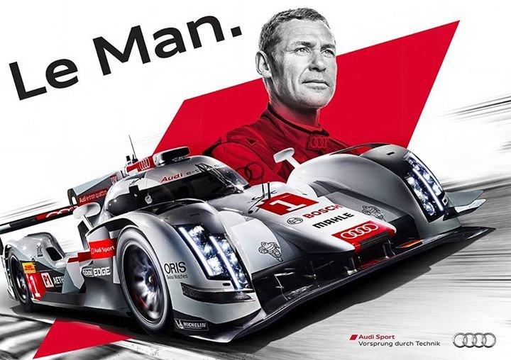 Da Kristensen la opp, lagde Audi denne herlige hyllest-plakaten. «Le Man» sier det meste.