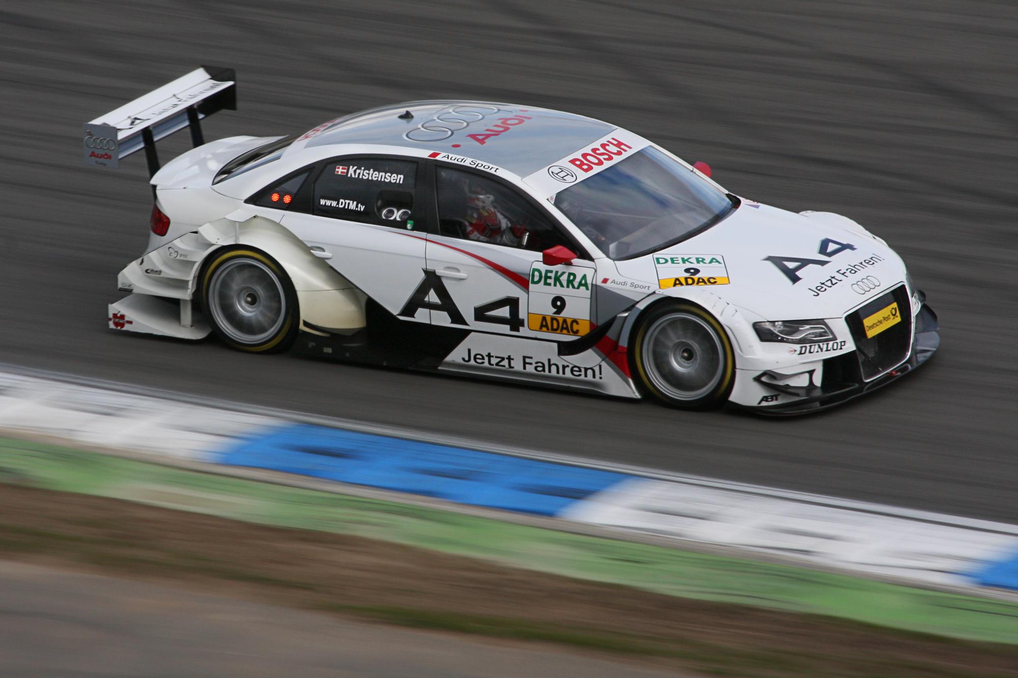 Kristensen viste seg også å være en solid sjåfør i DTM-serien.