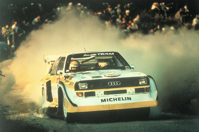 Da Röhrl vant San Remo Rally i 1985 i en quattro Sport S1, ble det både hans og Audis siste seier i Gruppe B. Foto: Audi