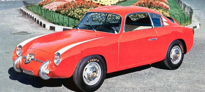 En vakker Abarth 750GT Zagato av edel 1957-årgang.